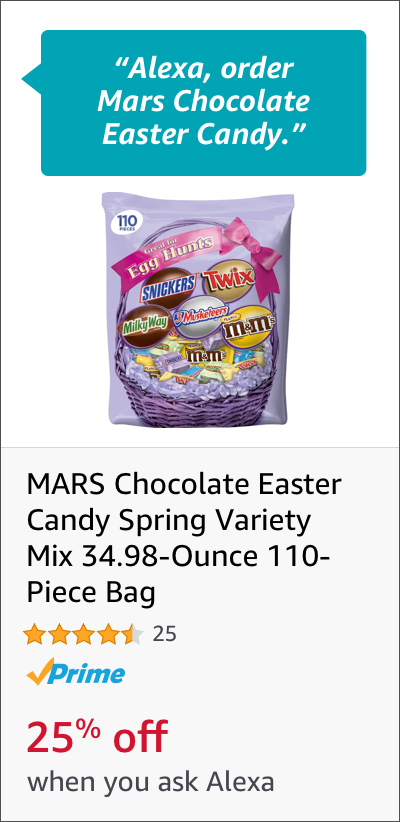 Voice Order Mars Chocolate Easter Candy