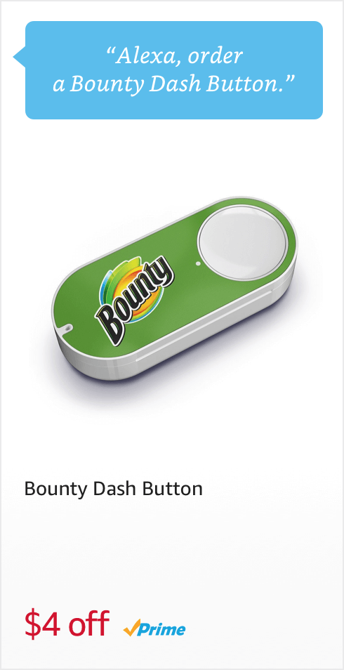 Voice Order Bounty Dash Button