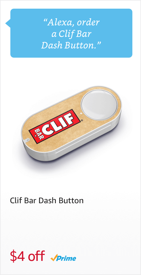 Voice Order a Clif Bar Dash Button