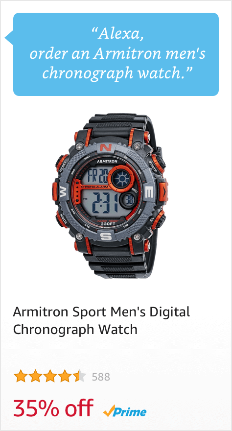 Voice Order an Armitron Men's Chronograph Watch