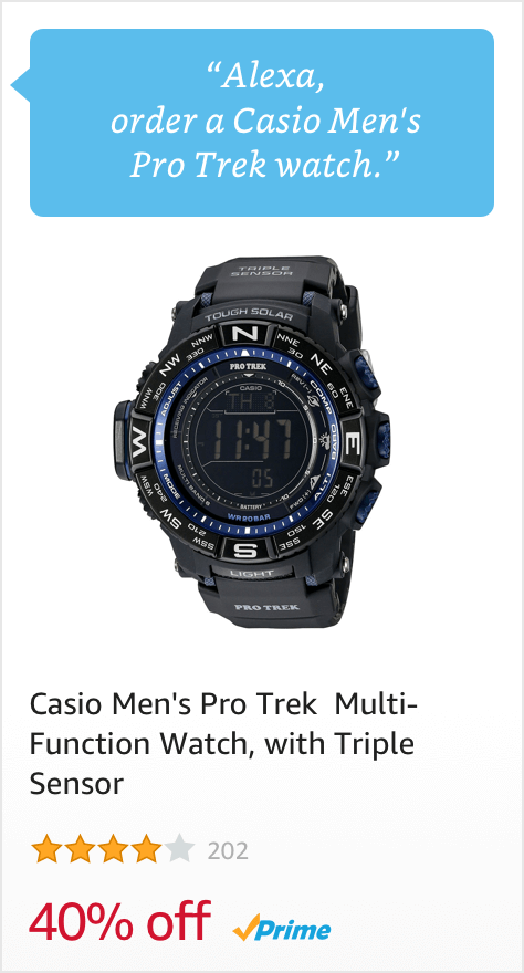 Voice Order a Casio Men's Pro Trek Watch