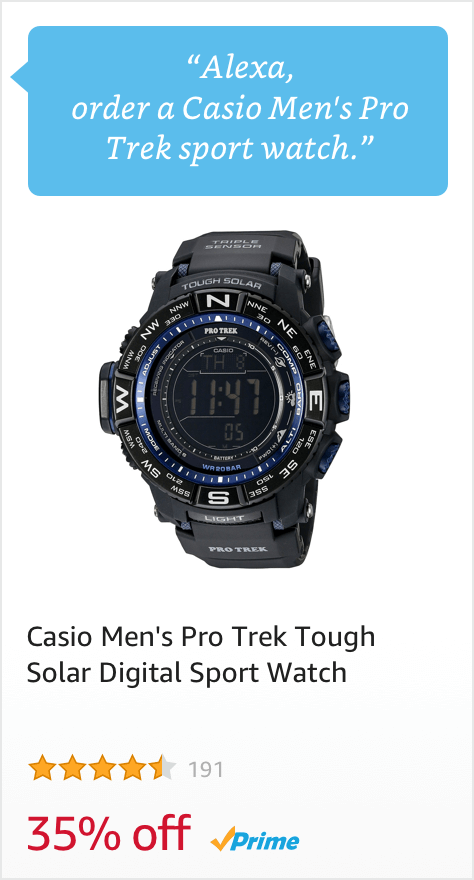 Voice Order a Casio Men's Pro Trek Sport Watch