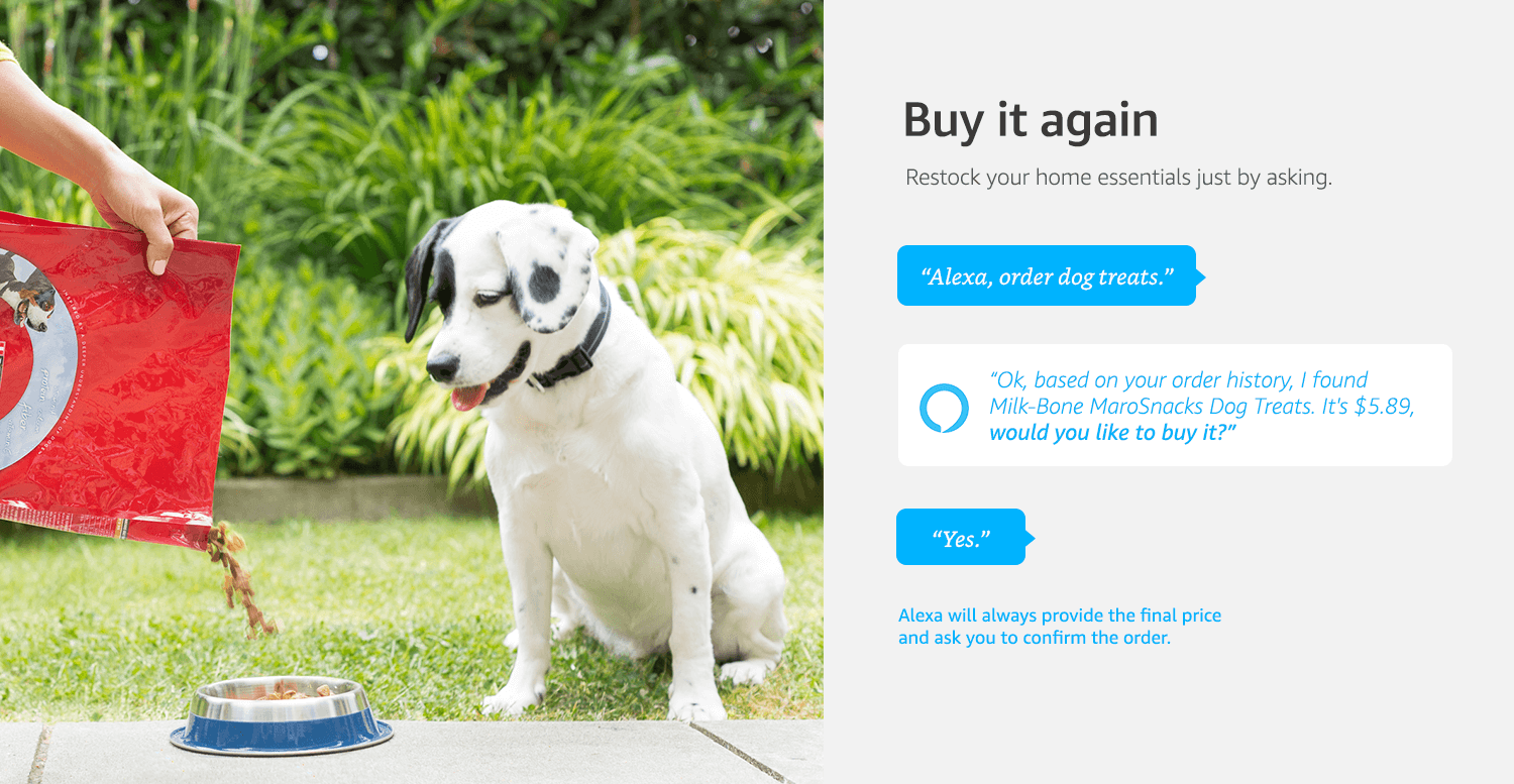 Alexa Voice Shopping Shop Millions Of Amazon Products With Alexa - Every day this dog goes shopping all by himself to get treats