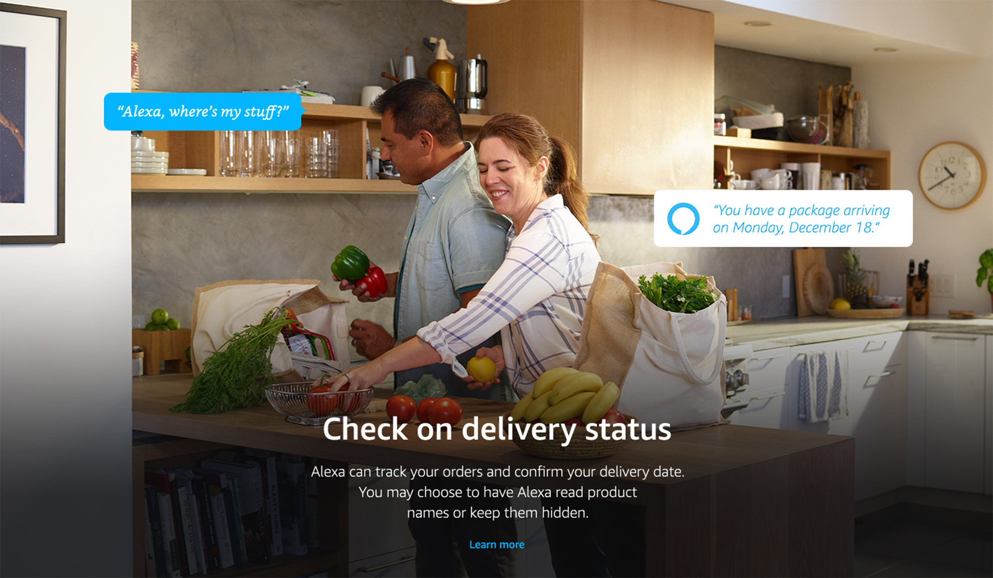 Check on delivery status