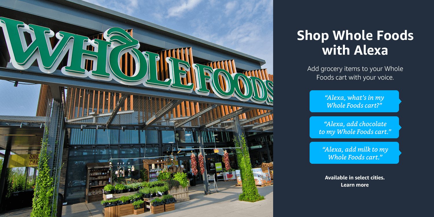 Shop Whole Foods with Alexa