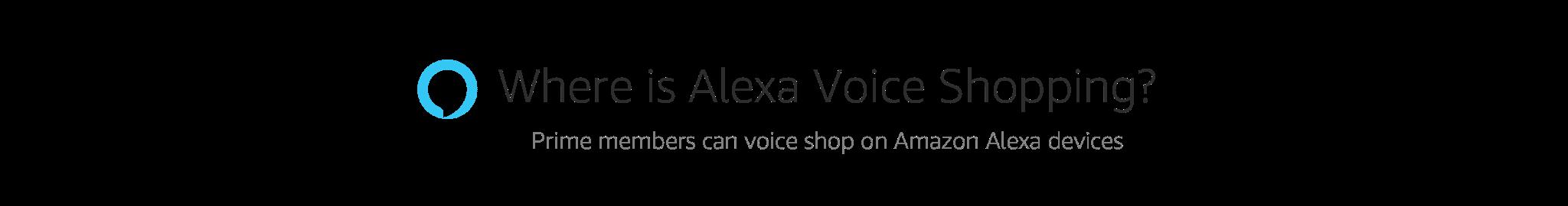 Where is Alexa Voice Shopping?