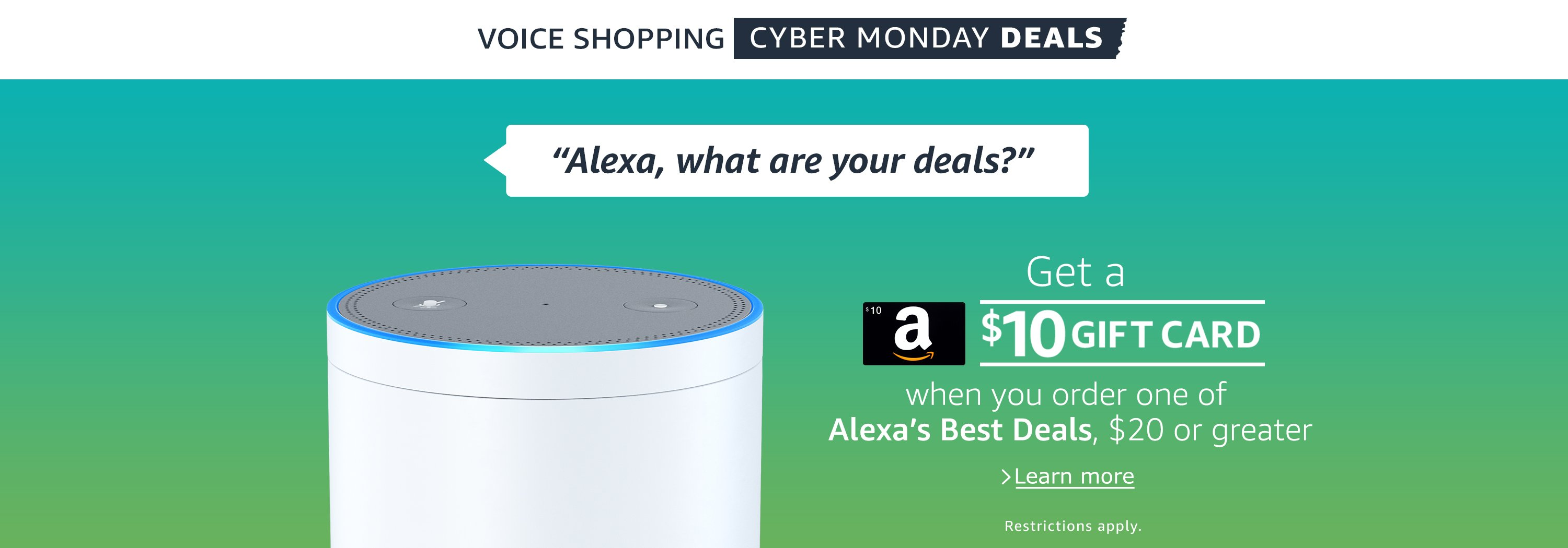 Alexa, what are your deals?