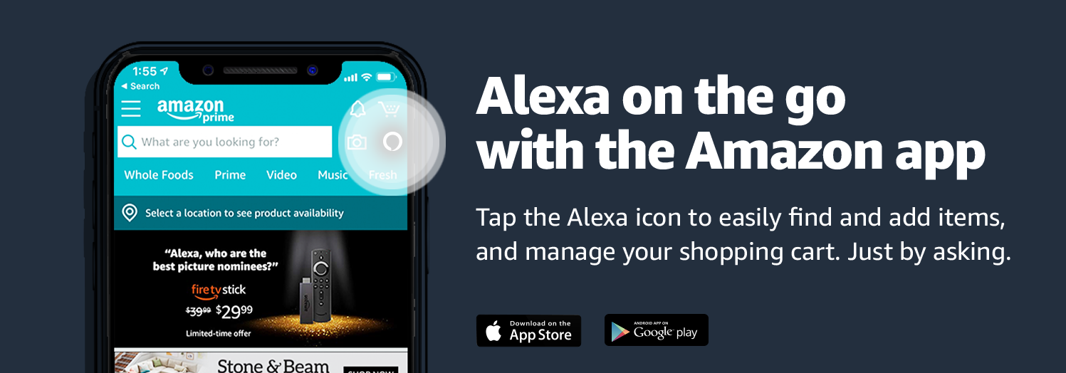 Alexa on the go with the Amazon app