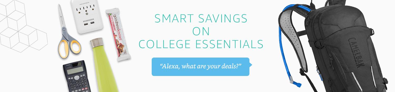 Smart Savings on College Essentials with Alexa