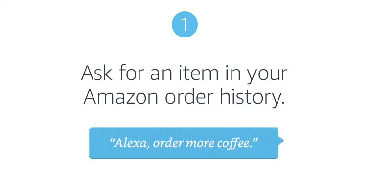 1. Order with Alexa
