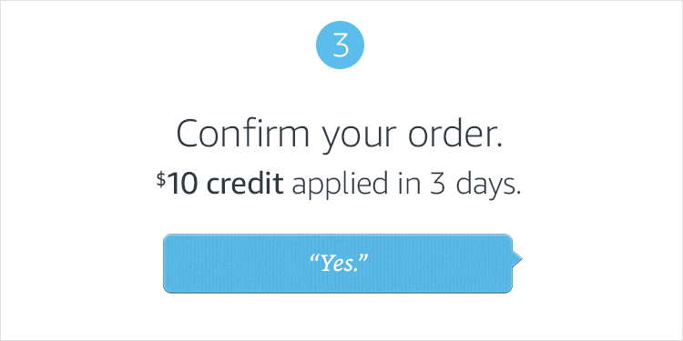 3. Confirm your order.