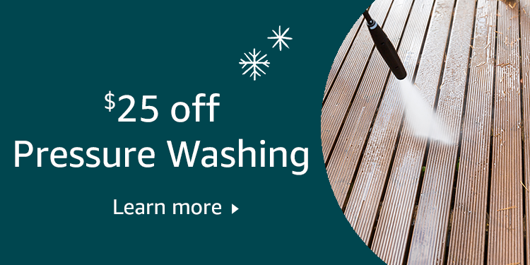 $25 off Pressure Washing