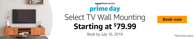 Select TV Wall Mounting starting at $79.99