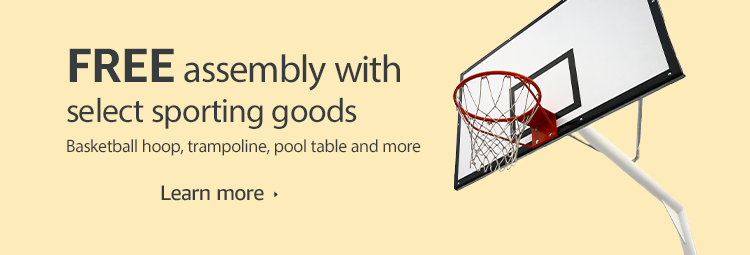 Free assembly with select sporting goods