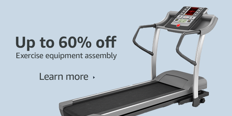 Up to 60% off exercise equipment assembly