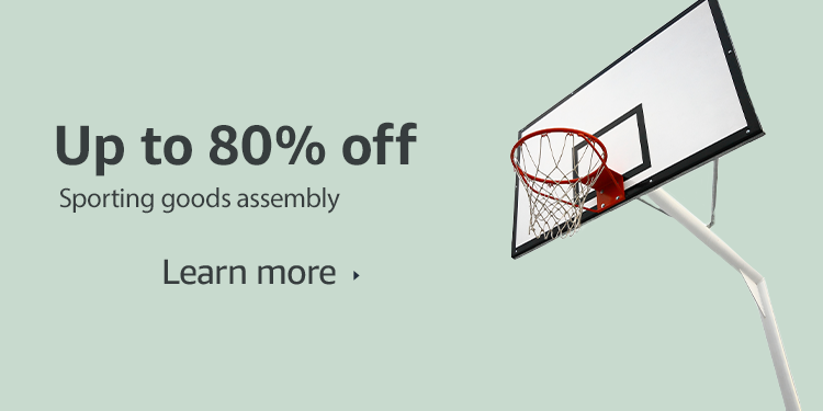 Up to 80% off sporting good assembly
