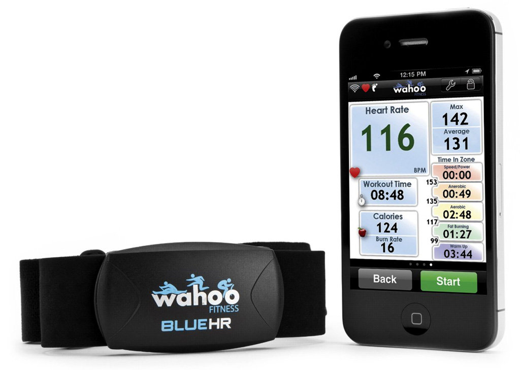 heart rate monitor iphone wahoo bluehr rate monitor for iphone 4014