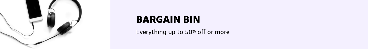 Bargain Bin 50% off everything