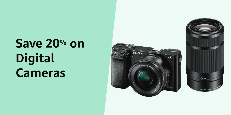 Amazon Warehouse 20% Digital Cameras