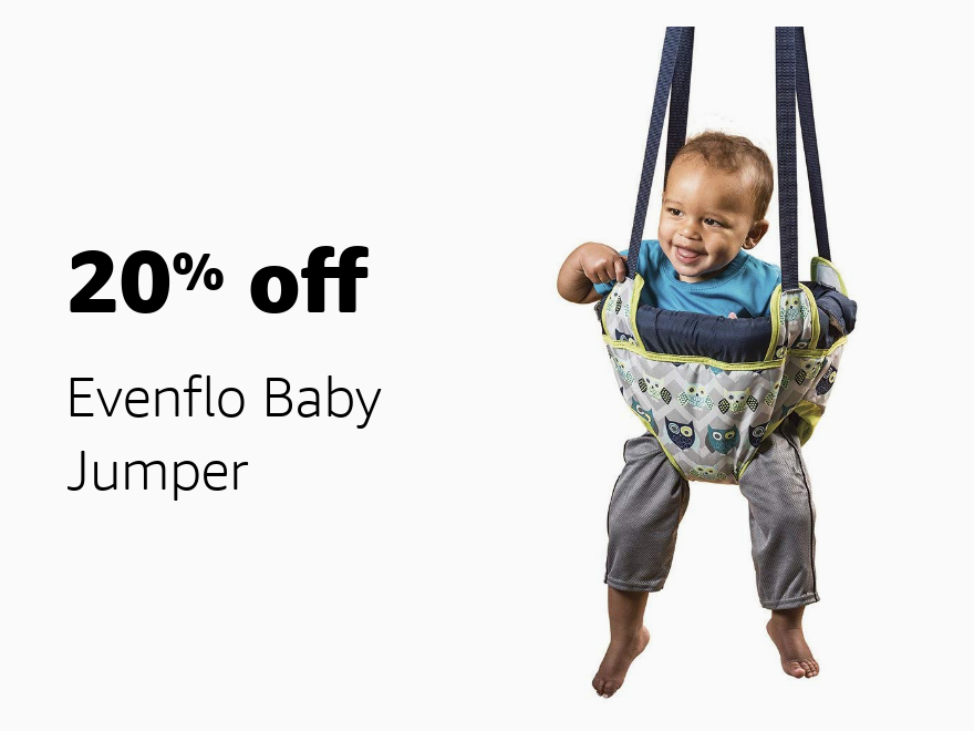 Amazon Warehouse Prime Day 20% off Evenflo Baby Jumper