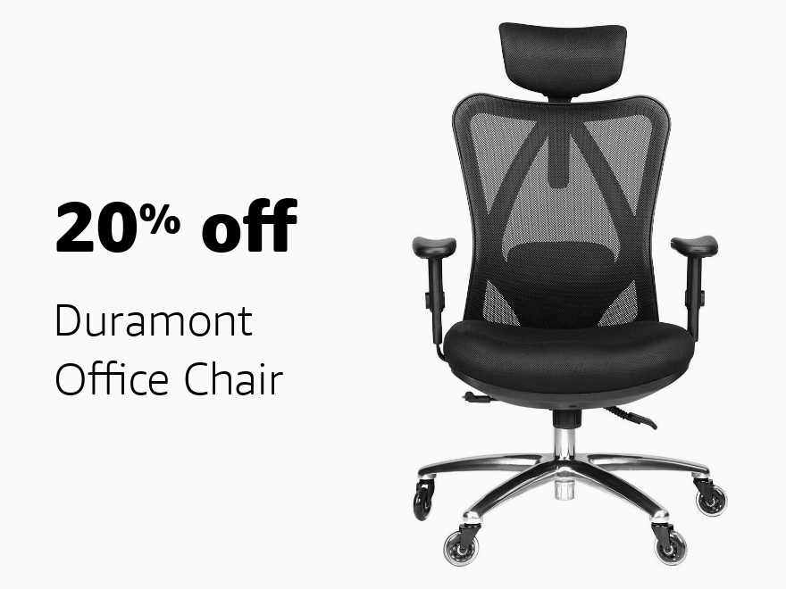 Amazon Warehouse Prime Day 20% off Duramont Office Chair