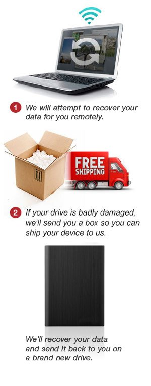 Step 1.   Seagate will attempt to recover your data remotely.