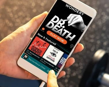 4 months free of Wondery+ ad-free premium podcasts