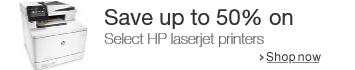 Save on select HP laserjet printers