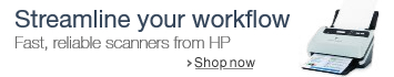 Streamline your workflow. Fast, reliable scanners from HP.