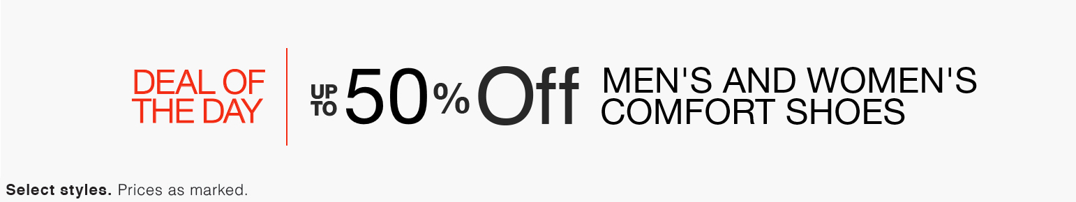 Up to 50% Off Men's and Women's Comfort Shoes