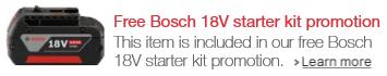 Bosch free 18-volt starter kit promotion