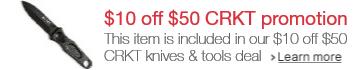 CRKT $10 off $50 promotion