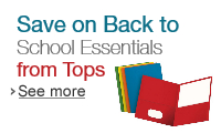 Save on Back to School Essentials from Tops