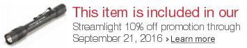 Streamlight 10% off promotion