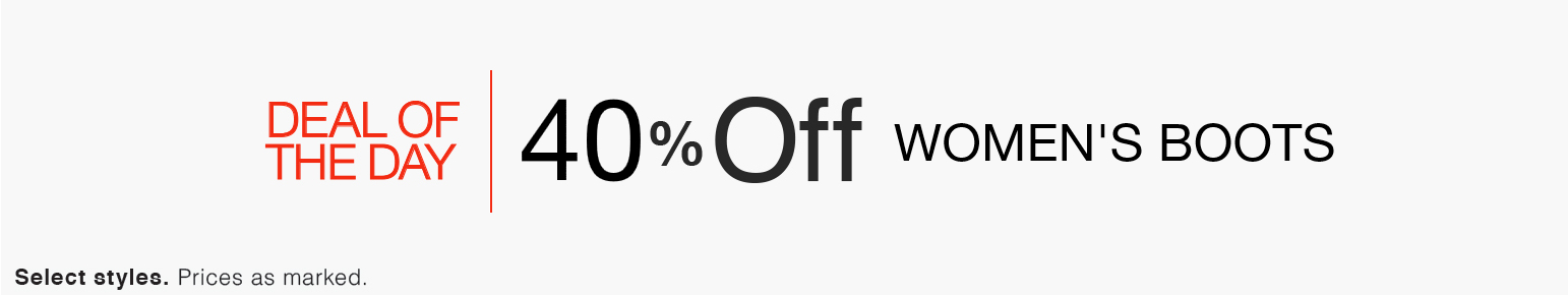 Deal of the Day: 40% Off Women's Boots