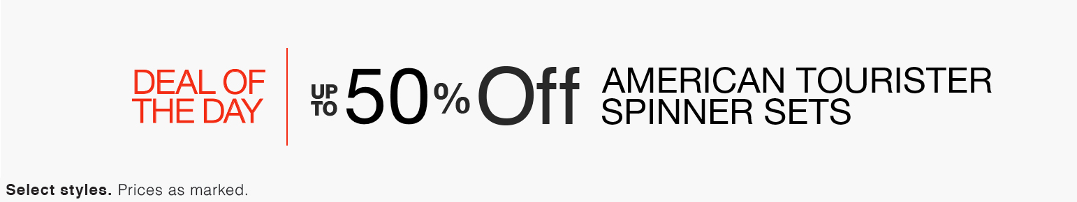 Deal of the Day | Up to 50% Off American Tourister Spinner Sets