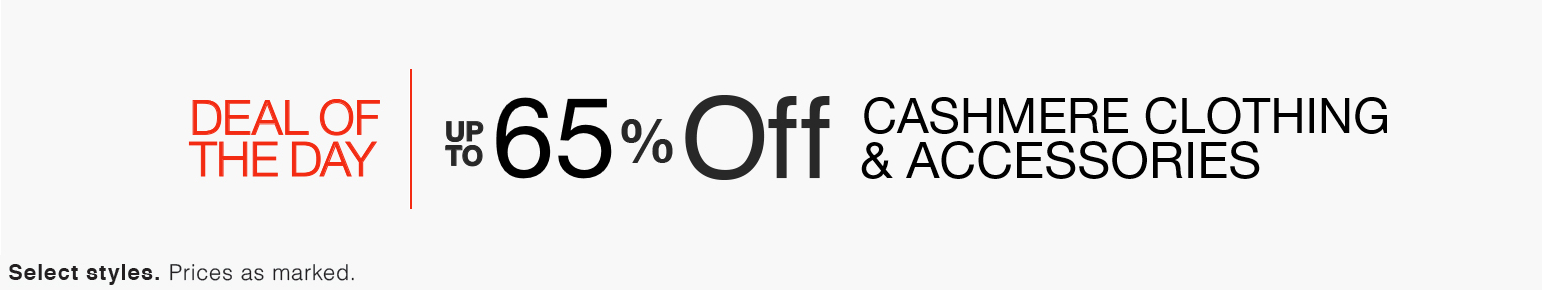 Up to 65% Off Cashmere Clothing & Accessories