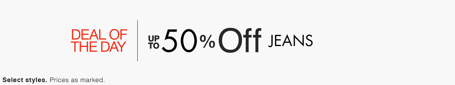 Deal Of the Day| 50% Or More Off Jeans