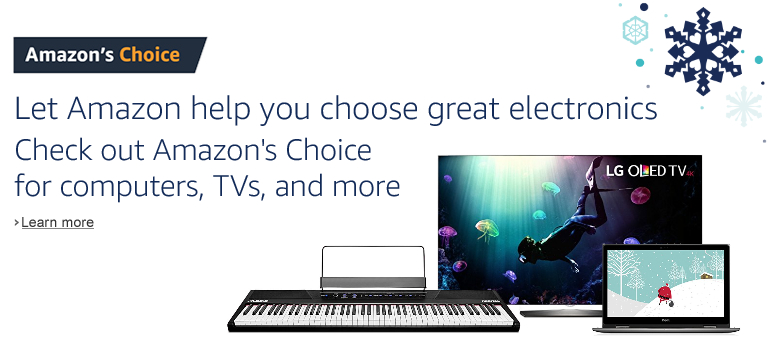 Amazon's Choice for electronics