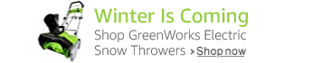 Shop GreenWorks Electric Snow Throwers