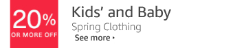 20% or More Off Kids' and Baby Clothing