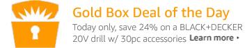 BLACK+DECKER Goldbox Deal of the Day