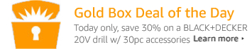 BLACK+DECKER Goldbox Deal of the Day
