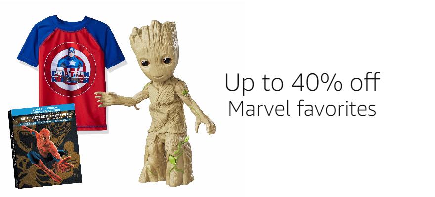 Up to 40% off Marvel favorites