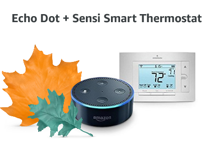 Echo Dot + Sensi Smart Thermostat