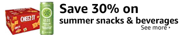 Save 30% on summer snacks and beverages