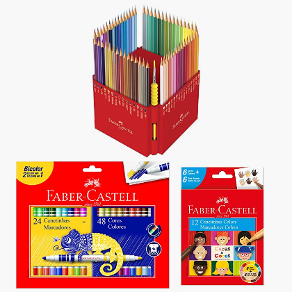 Canetinha Hidrográfica Bicolor Faber Castell 15 0612N