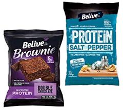 Protein Brownie Double Chocolate com 5g de Proteínas sem Glúten sem Lactose Belive 40g