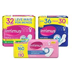 Intimus Absorvente Externo, Noturno Suave com Abas Extra Proteção, 8 unidades