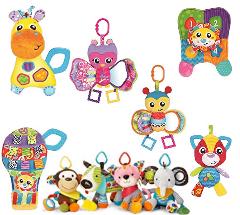 Brinquedo de Pelúcia Girafa Jerry Playgro, Playgro, amarelo, azul, laranja